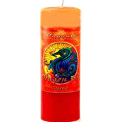 Energy - Crystal Journey Mandala Pillar Candle - Dragon Fire