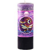 Intuition - Crystal Journey Mandala Pillar Candle - Dragonfly