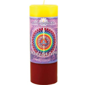 Wisdom - Crystal Journey Mandala Pillar Candle - Meditation