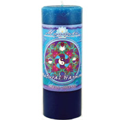 Well Being - Crystal Journey Mandala Pillar Candle - Natural Harmony