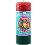 Happiness - Crystal Journey Mandala Pillar Candle - Wheel of Life