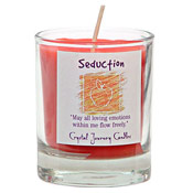 Seduction - Crystal Journey Filled Glass Votive Candle