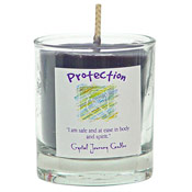 Protection - Crystal Journey Filled Glass Votive Candle