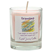 Friendship - Crystal Journey Filled Glass Votive Candle