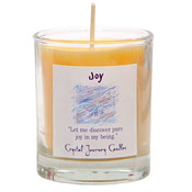 Joy - Crystal Journey Filled Glass Votive Candle