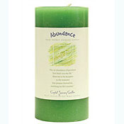 Abundance - Crystal Journey Herbal 3X6 Pillar Candle