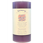 Harmony - Crystal Journey Herbal 3X6 Pillar Candle