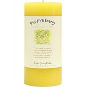 Positive Energy - Crystal Journey Herbal 3X6 Pillar Candle