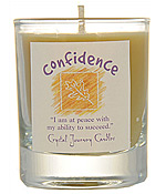 Crystal Journey Filled Glass Votive Candle - Confidence
