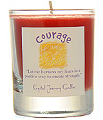 Crystal Journey Filled Glass Votive Candle - Courage