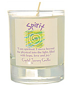 Crystal Journey Filled Glass Votive Candle - Spirit