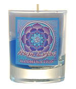 Crystal Journey Mandala Glass Votive - Aum Lotus - Illumination