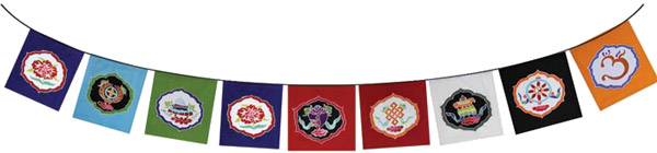 Tibetan Treasure Flags - 9 Flags