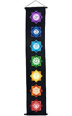 7 Chakras Cotton Color Banner