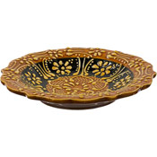 Turkish Ceramic Candle Plate - Yellow