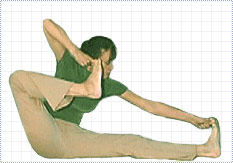 The Shooting Bow Pose - Akarna-Dhanura-asana