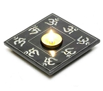 Candle Holder - Tealight Candle Holder with Om Symbol