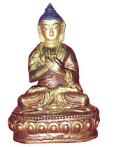 Buddha as a  teacher in Dharmachakra Mudra