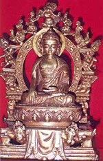 Buddha as depicted in Mahayani Sculpture