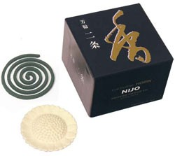 Avenue of the Villa (Nijo) - Shoyeido Horin Incense - 10 Coils and Holder