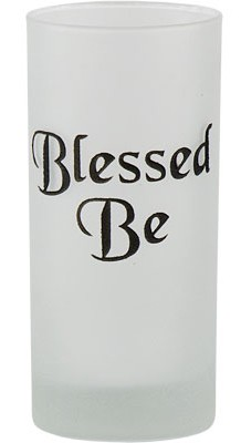 Be Blessed Etched Glass Pillar Candle Holder
