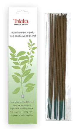 Frankincense, Myrrh & Sandalwood - Triloka Premium Natural Herbal Incense