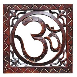 "OM Symbol Wood Wall Hanging - 10"" x 10"""