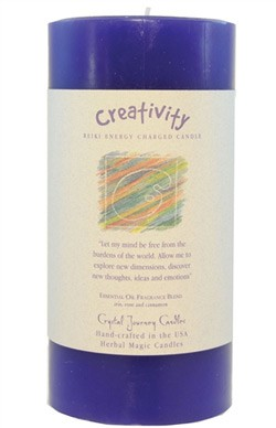 Creativity - Crystal Journey Herbal 3X6 Pillar Candle