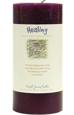 Healing - Crystal Journey Herbal 3X6 Pillar Candle