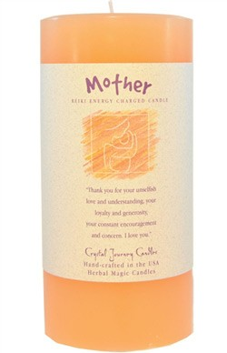 Mother - Crystal Journey Herbal 3X6 Pillar Candle