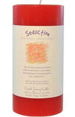 Seduction - Crystal Journey Herbal 3X6 Pillar Candle