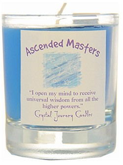 Crystal Journey Filled Glass Votive Candle - Ascended Masters