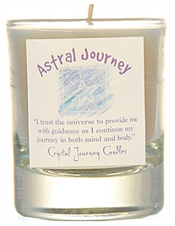 Crystal Journey Filled Glass Votive Candle - Astral Journey