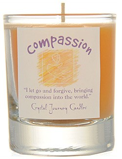 Crystal Journey Filled Glass Votive Candle - Compassion