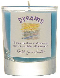 Crystal Journey Filled Glass Votive Candle - Dreams