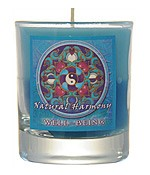 Crystal Journey Mandala Glass Votive - Natural Harmony - Well Being