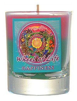 Crystal Journey Mandala Glass Votive - Bodhisattva - Freedom
