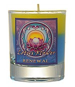 Crystal Journey Mandala Glass Votive - Lotus flower - Renewal