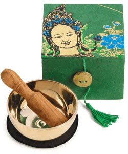Green Tara Meditation Bowl Box