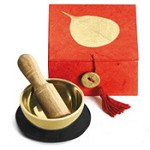 Golden Bodhi Mini Meditation Bowl Box