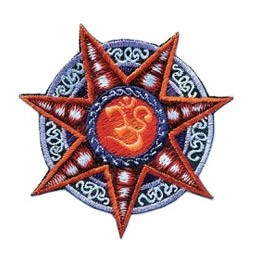 Star OM Embroidery Patch - 3""