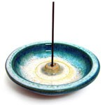 Teal Rim Japanese 4'' Ceramic Wheel Burner