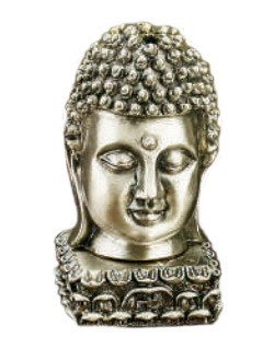 Cone Incense Burner - Buddha Head Pewter
