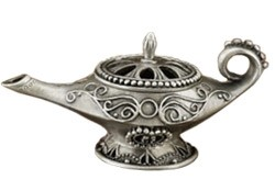 Cone Incense Burner - Aladin's Lamp Pewter