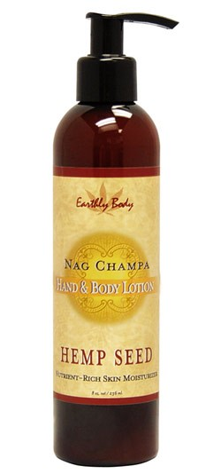 Nag Champa Earthly Body Hemp Seed Hand & Body Lotion - 8 oz.