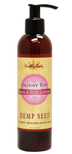 Skinny Dip (Sweet Floral Vanilla) Earthly Body Hemp Seed Hand & Body Lotion - 8 oz.