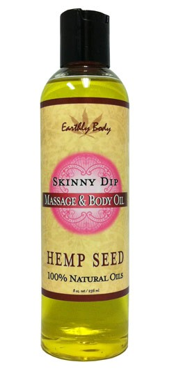 Skinny Dip (Vanilla & Cotton Candy) Earthly Body Massage & Body Oil - 8 oz.