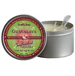 Guavalava (Blackberry & Guava) Earthly Body 3-in-1 Suntouched Massage  Oil Candle