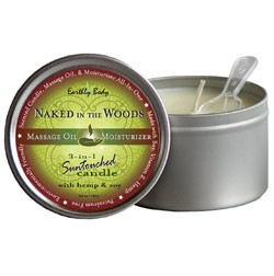 Naked in the Woods (White Tea & Ginger) Earthly Body 3-in-1 Suntouched Massage  Oil Candle