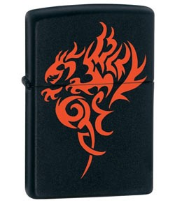 Zippo Classic Lighter - Hidden Dragon (Black Matte)